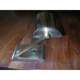Excellent asymetric french modernist bronze table lamp