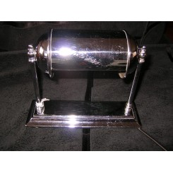 English art deco chrome bankers lamp