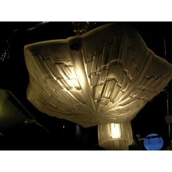 Superb clear frosted star shaped ceiling light by jean noverdy mozeypictures Choice Image