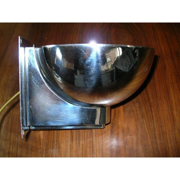 A magnificent set of (4) chrome Art Deco wall lights in the style of ...