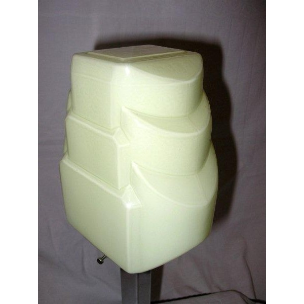Good Art Deco Stepped Square Base Table Lamp With Unusual