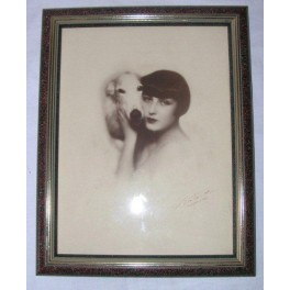 Original Art Deco photo o fLouise Brooks with her Borzoi