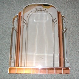 Large Odeon Style Pink And Clear Art Deco Mirror Deco Dave