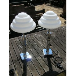 Excellent pair of Art Deco large table lamps