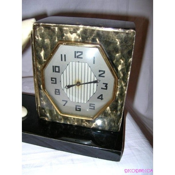 Art Deco Odyv Pottery Polar Bear Clock Deco Dave