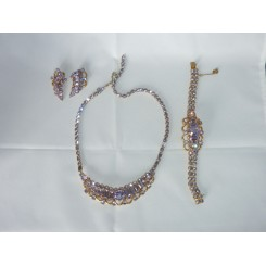 Lilac Mitchel Maer For Dior Jewellery Set Includes Earrings, Bracelet, Necklace