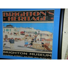 Reprint (circa 1980) of an Original travel poster of Brighton by H.G. Gawthorn