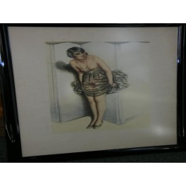 Superb art deco lithograph by william ablett