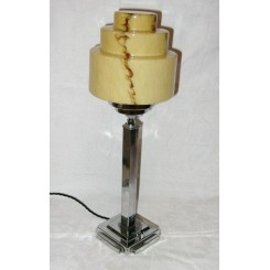 Art Deco Stepped Square Based Table Lamp