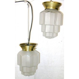 Pair Of Large Cog Design French Deco Close Fit Fixtures