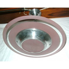 Saturn Ring Art Deco ceiling fixture