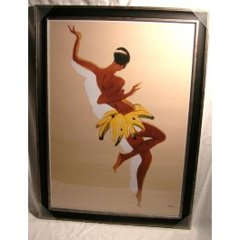 Framed Poster Of Josephine Baker In Her Famous Banana Skirt By Paul Colin