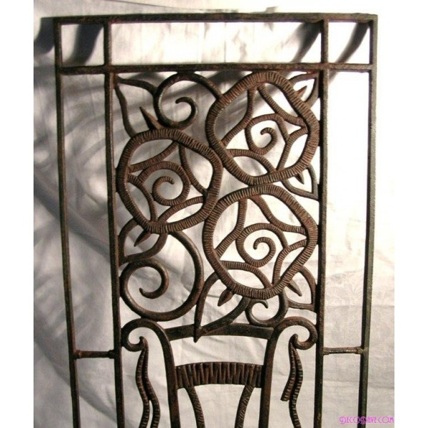 Fabulous Wrought Iron Art Deco Wall Panel Deco Dave