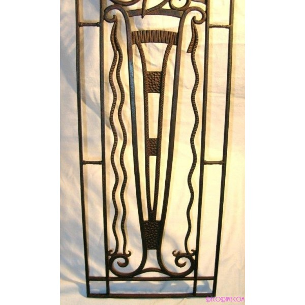 Fabulous Wrought Iron Art Deco Wall Panel - Deco Dave