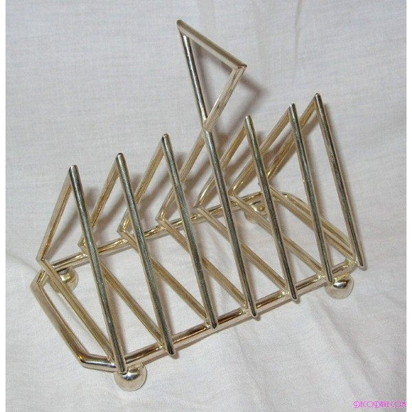Triangular Christopher Dresser Inspired Silver Plated
