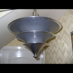 Modernist (3) stepped conical aluminium fixture