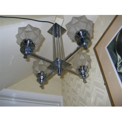 Modernist four branch fixture with star shades