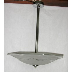 Centre Pole Fixture With Octagonal Shade By Degue