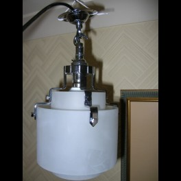Very good small english twin tube ceiling fixture