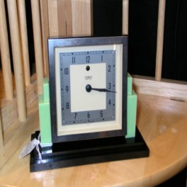 Art deco bakelite electric desk clock by tempo