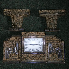 French deco clock set by odyv