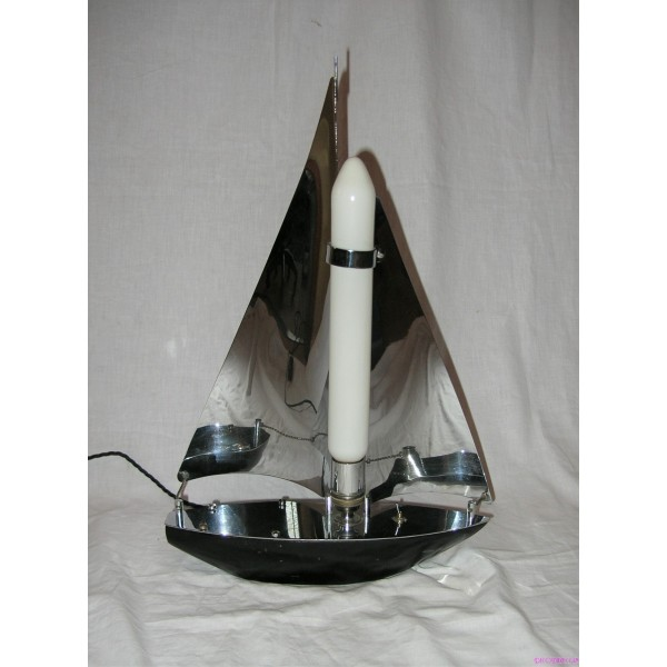 Art Deco Chrome Sailing Boat Table Lamp Deco Dave