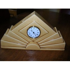 French pottery clock by saint clement ( replacement quartz works)