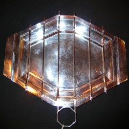 Art deco silver plated deco serving dish by asprey and co