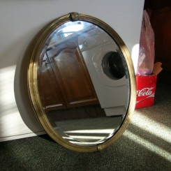 Oval french deco mirror
