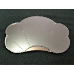 English cloud shaped bi-coloured mirror circa 1930
