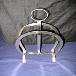 Superb french modernist chrome magazine rack