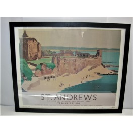 Art Deco railway poster of St Andrews by Fred Taylor
