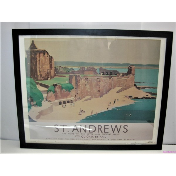 Art Deco Railway Poster Of St Andrews By Fred Taylor ...