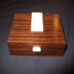 Art deco wooden box with ivory decoration