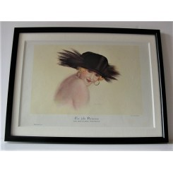 Leo Fontan print of lady in a hat