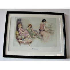 Suzanne Meunier Print of a 3 ladies with piano