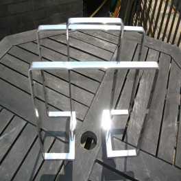 French modernist nickel plated magazine rack