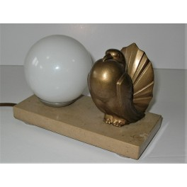 Dove Table Lamp On Marble Base
