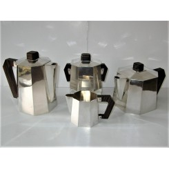 Art Deco Silver Plate Cubist Tea Set