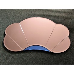 Pink And Blue Cloud Shaped Mirror