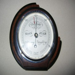 Excellent & rare fully working asymetric wall barometer