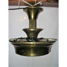 brass ceiling fixture by Petitot with central glass bowl