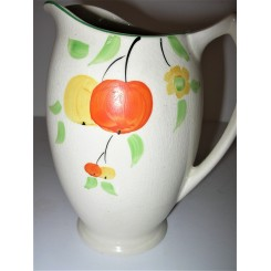 Set of 3 Art Deco hand painted graduated jugs