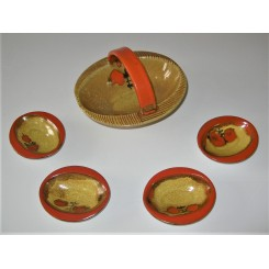 Wemer Republic period ceramic dishes by Adolf Lichtner
