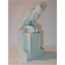 Unusual Blanc De Chine Art Nouveau Figure Of A Young Lady