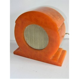 Art Deco Orange Catalin Bakelite Extension Speaker