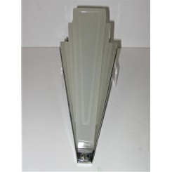 Art Deco Tapered Glass And Chrome Mounted Wall Light