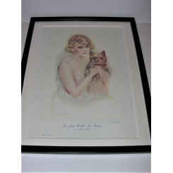 Suzanne Muenier print Lady with dog