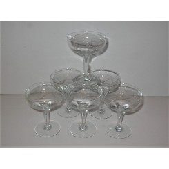 Set of 6 Deco French Champagne coupes