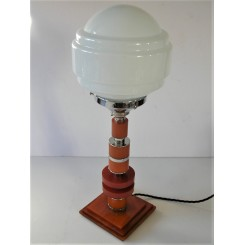 Art Deco Catalin and chrome table lamp